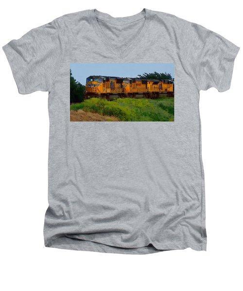 Union Pacific Line Men's V-Neck T-Shirt