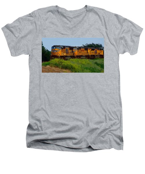 Union Pacific Line Men's V-Neck T-Shirt