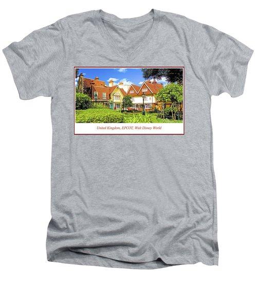 United Kingdom Buildings, Epcot, Walt Disney World Men's V-Neck T-Shirt