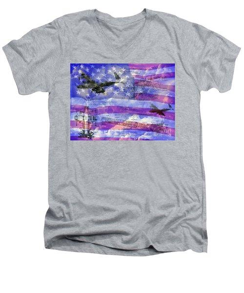 United States Armed Forces One Men's V-Neck T-Shirt