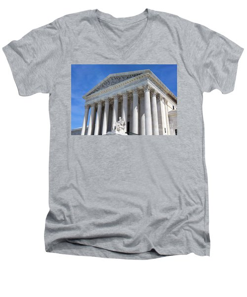 United States Supreme Court Building Men's V-Neck T-Shirt