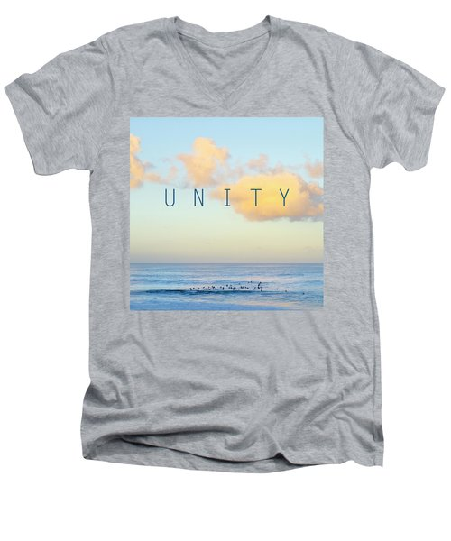 Unity. Men's V-Neck T-Shirt