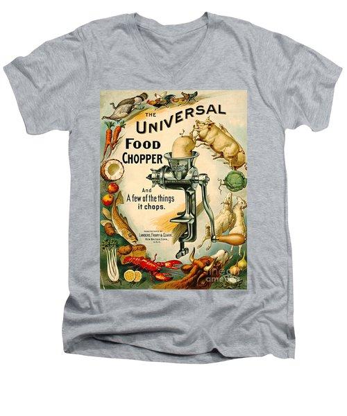 Universal Food Chopper 1897 Men's V-Neck T-Shirt by Padre Art
