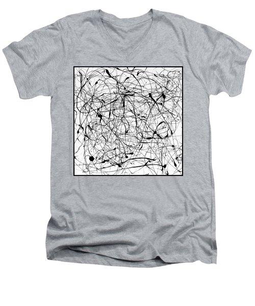 Universal Painting Men's V-Neck T-Shirt by Ismael Cavazos