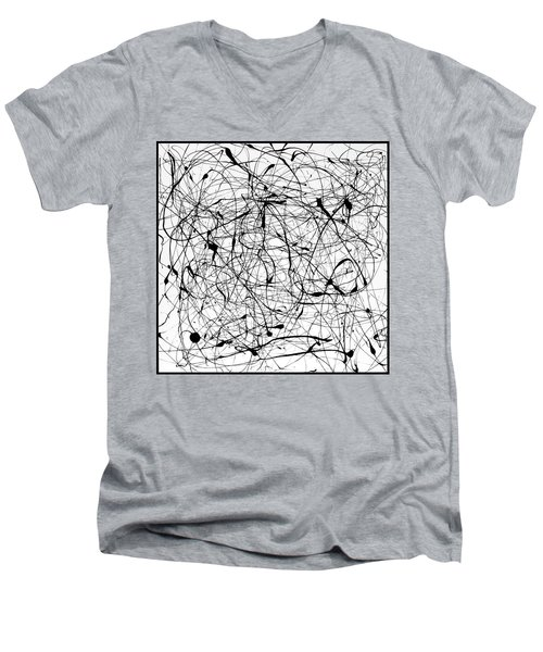 Universal Painting Men's V-Neck T-Shirt