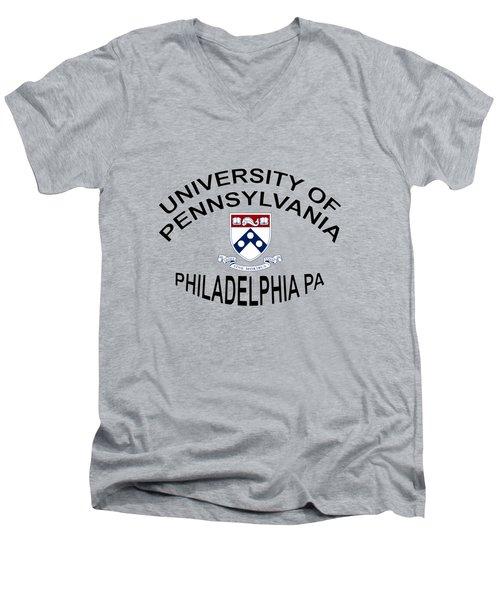 University Of Pennsylvania Philadelphia P A Men's V-Neck T-Shirt by Movie Poster Prints