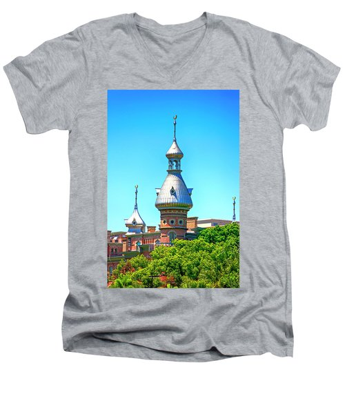 University Of Tampa Minaret Fl Men's V-Neck T-Shirt