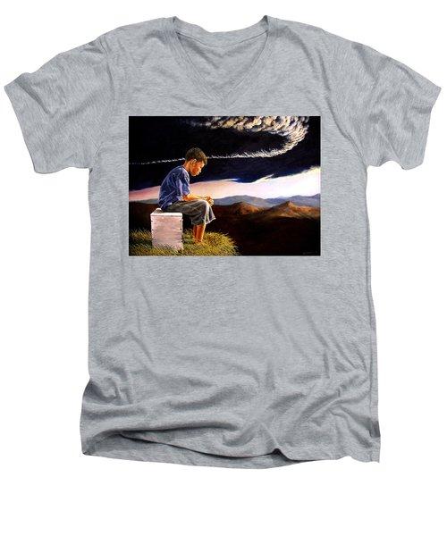 Unscarred Mountain Men's V-Neck T-Shirt