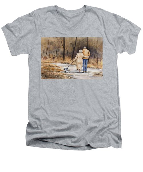 Unspoken Love Men's V-Neck T-Shirt by Sam Sidders