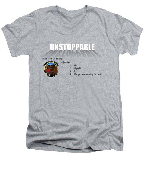 Unstoppable V1 Men's V-Neck T-Shirt by Michael Frank Jr