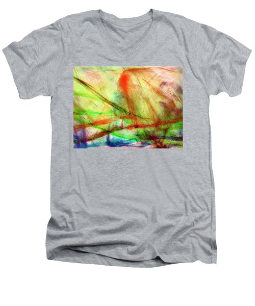 Untitled #140922, From The Soul Searching Series Men's V-Neck T-Shirt
