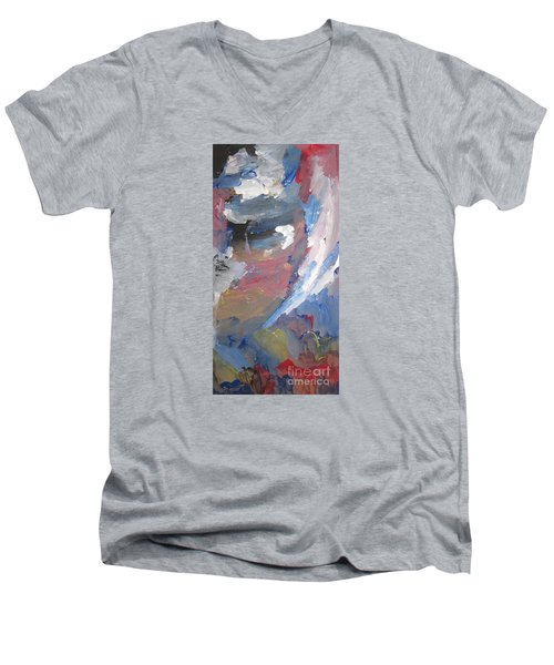 Untitled 141 Original Painting Men's V-Neck T-Shirt