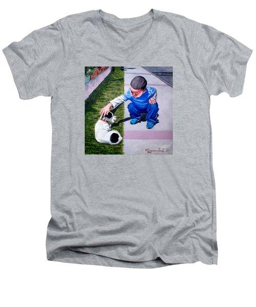 Untitled-2 Men's V-Neck T-Shirt