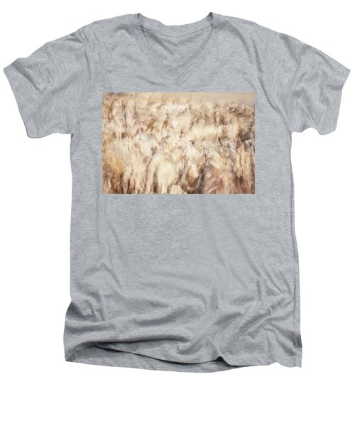 Untitled #3939, From The Soul Searching Series Men's V-Neck T-Shirt