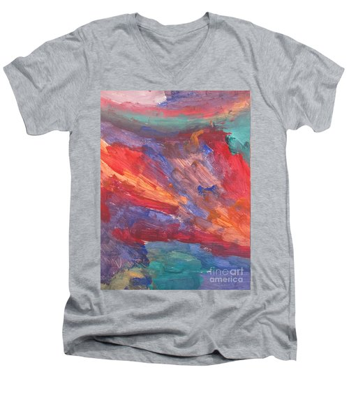 Untitled 95 Original Painting Men's V-Neck T-Shirt