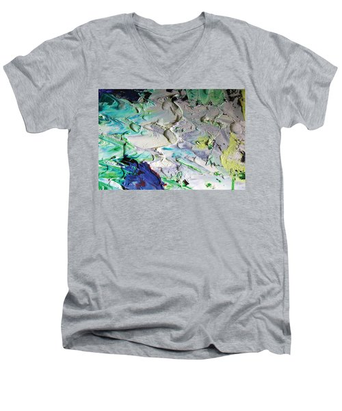 Untitled Abstract With Droplet ## Men's V-Neck T-Shirt