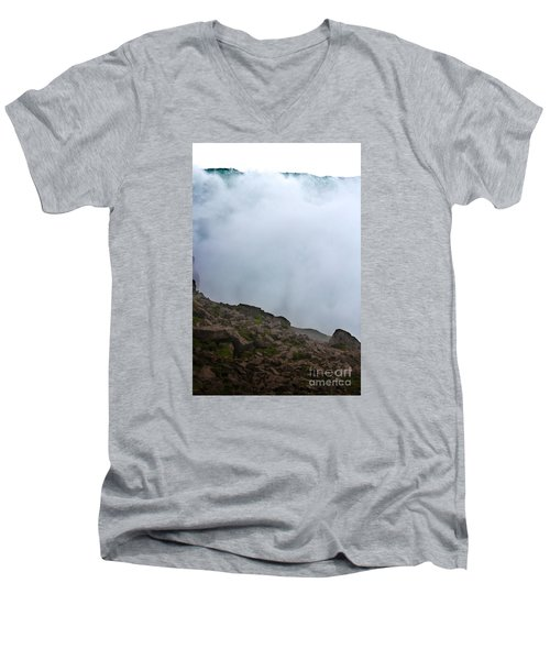 Men's V-Neck T-Shirt featuring the photograph The Wall Of Water by Dana DiPasquale