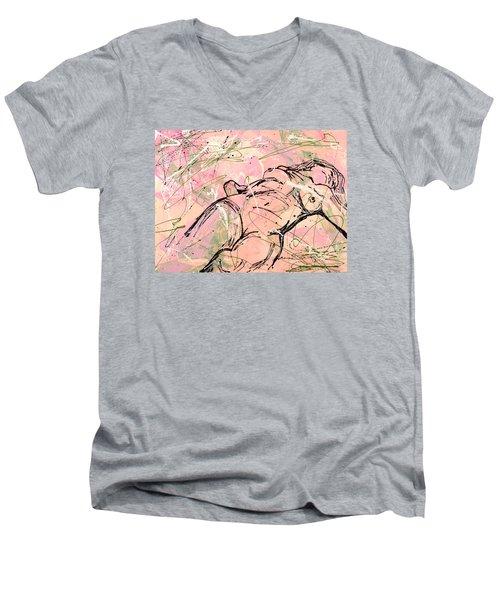 Unwinding Woman  Men's V-Neck T-Shirt