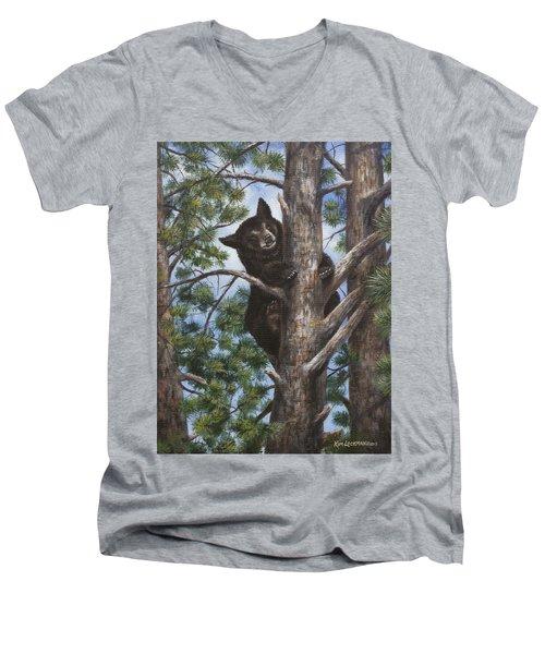 Up A Tree Men's V-Neck T-Shirt