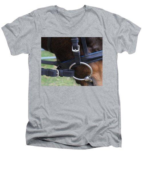Up Close Bit Men's V-Neck T-Shirt