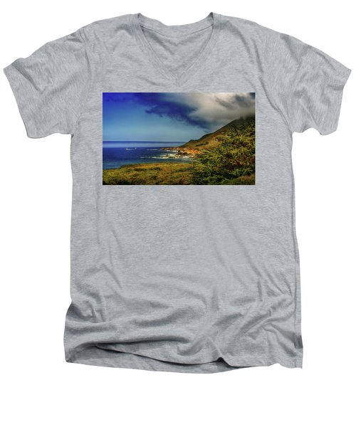 Up Coast Men's V-Neck T-Shirt by Joseph Hollingsworth