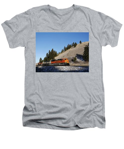 Up Hill And Into The Sun Men's V-Neck T-Shirt