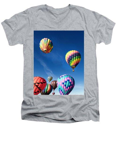 Up In A Hot Air Balloon 2 Men's V-Neck T-Shirt