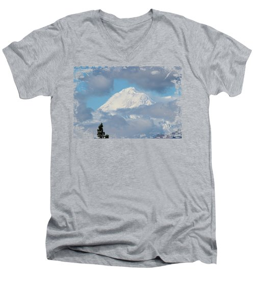 Up In The Clouds Men's V-Neck T-Shirt by Di Designs