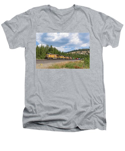 Up2650 Westbound From Donner Pass Men's V-Neck T-Shirt