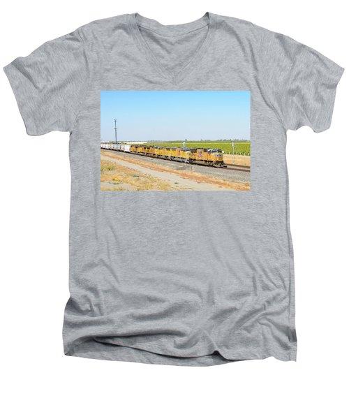 Up4912 Men's V-Neck T-Shirt