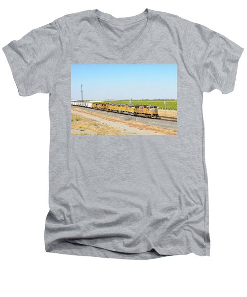 Up4912 Men's V-Neck T-Shirt
