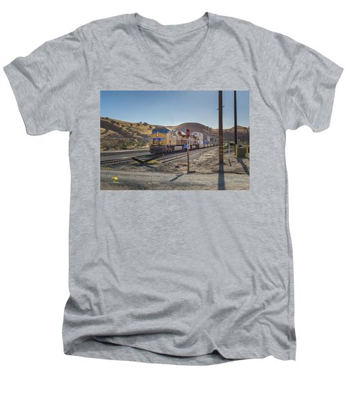 Men's V-Neck T-Shirt featuring the photograph Up7472 by Jim Thompson