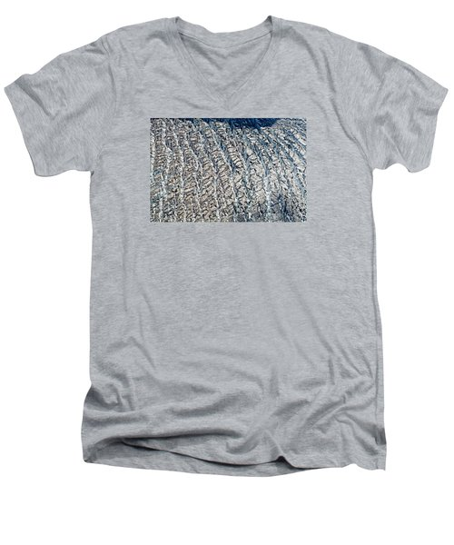 Upclose And Personal Of A Glacier Men's V-Neck T-Shirt