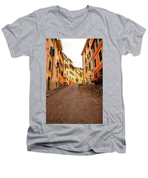 Uphill Italian Style Men's V-Neck T-Shirt