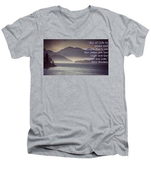 Uplifting244 Men's V-Neck T-Shirt by David Norman