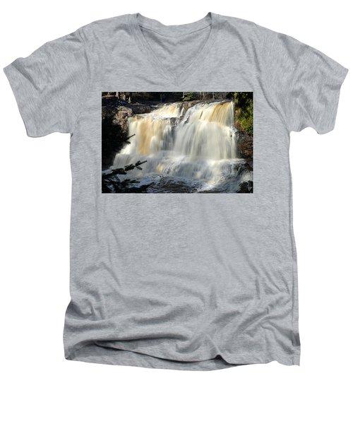 Upper Falls Gooseberry River Men's V-Neck T-Shirt