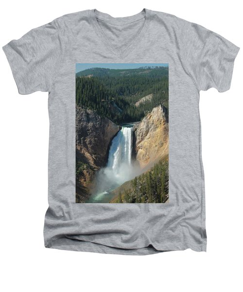 Upper Falls, Yellowstone River Men's V-Neck T-Shirt