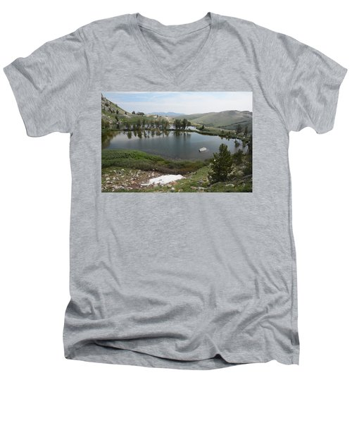 Upper Hidden Lake Men's V-Neck T-Shirt by Jenessa Rahn