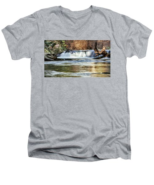 Upper Whatcom Falls Men's V-Neck T-Shirt