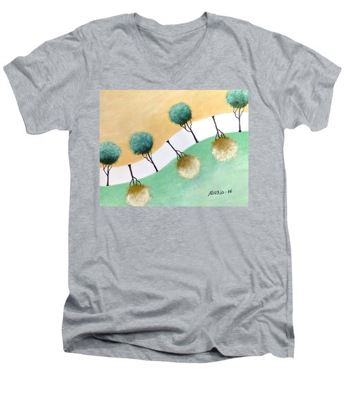 Upside Down Men's V-Neck T-Shirt