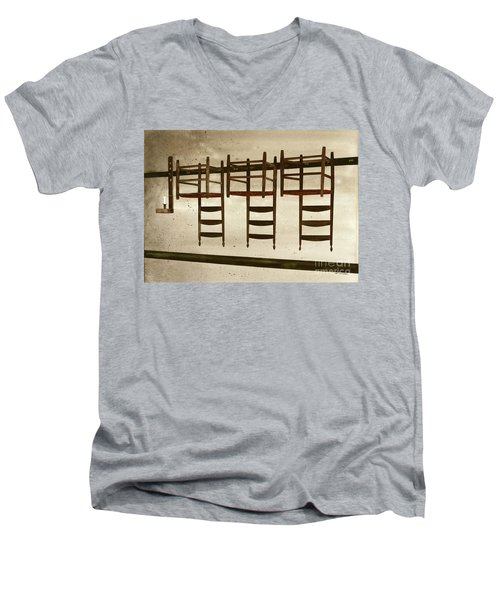 Upside Down Men's V-Neck T-Shirt