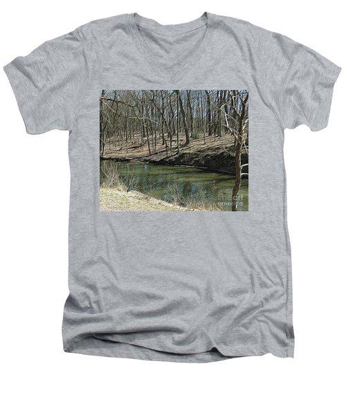 Upstream Men's V-Neck T-Shirt