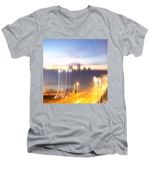 Uptown Toronto - Friday Night Men's V-Neck T-Shirt by Serge Averbukh