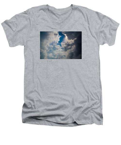 Men's V-Neck T-Shirt featuring the photograph Upward by Carlee Ojeda