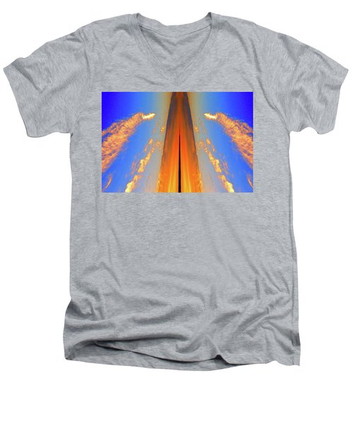 Upwards Two  Men's V-Neck T-Shirt by Lyle Crump