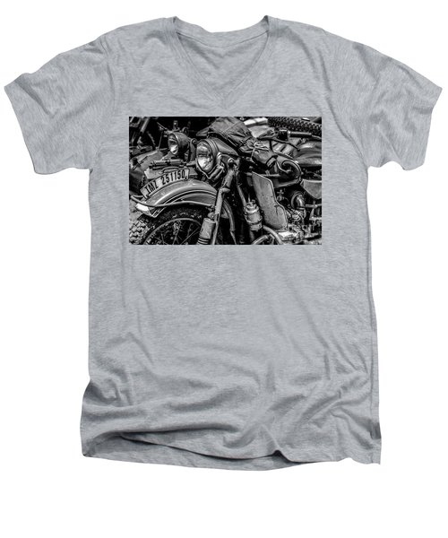 Ural Patrol Bike Men's V-Neck T-Shirt