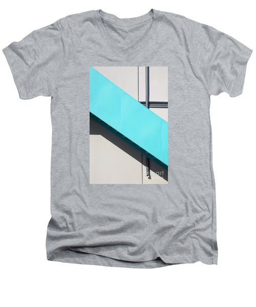 Men's V-Neck T-Shirt featuring the photograph Urban Abstract 1 by Elena Nosyreva