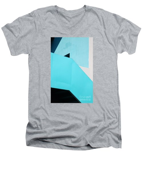 Men's V-Neck T-Shirt featuring the photograph Urban Abstract 2 by Elena Nosyreva