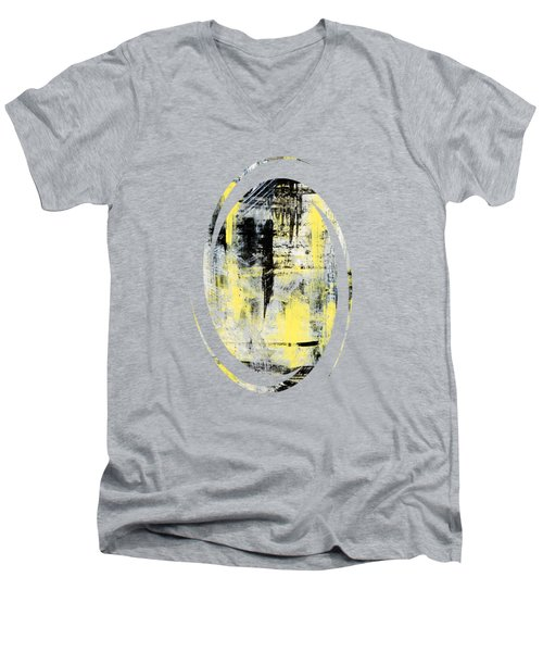 Urban Abstract Men's V-Neck T-Shirt by Christina Rollo