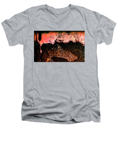 Urban Abstract Men's V-Neck T-Shirt by Jerry Sodorff